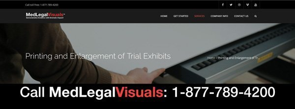 Printing and Enlargement of Trial Exhibits